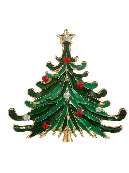 Christams Fashion Tree Alloy Brooches