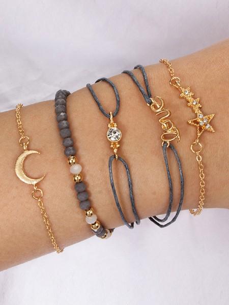 Brilliant Alloy With Rhinestone/Star Bracelets(6 Pieces)