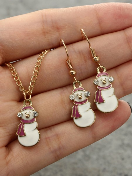 Christams Magical Snowman Alloy Jewelry Set