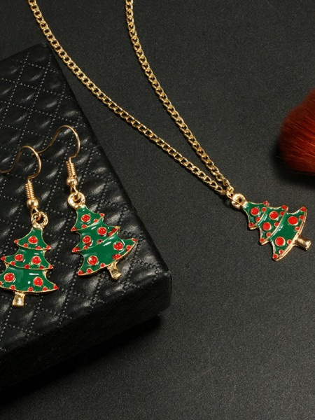 Christmas Stunning Alloy With Christmas Tree Jewelry Set