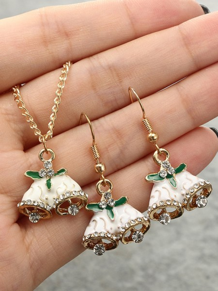 Christams Nice Bell Alloy Jewelry Set