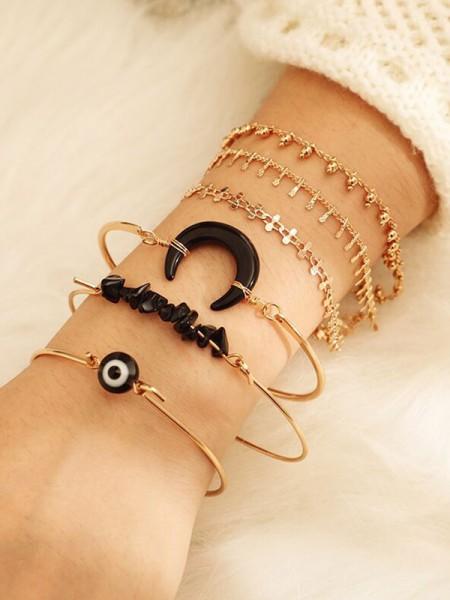 Exquisite Alloy With Moon Bracelets(6 Pieces)