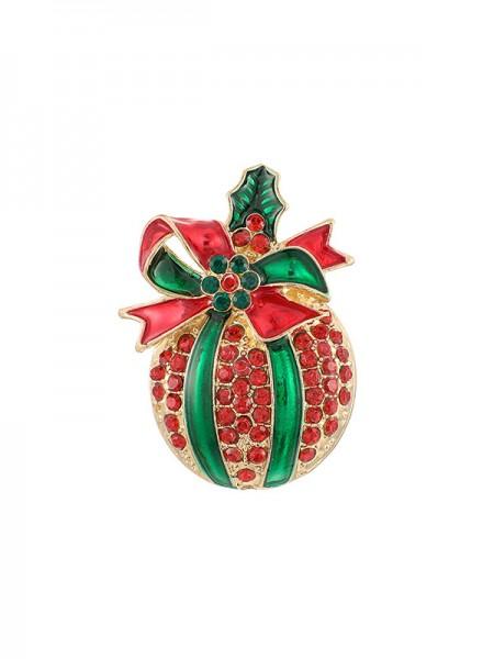 Christmas Fashion Alloy With Rhinestone Brooches