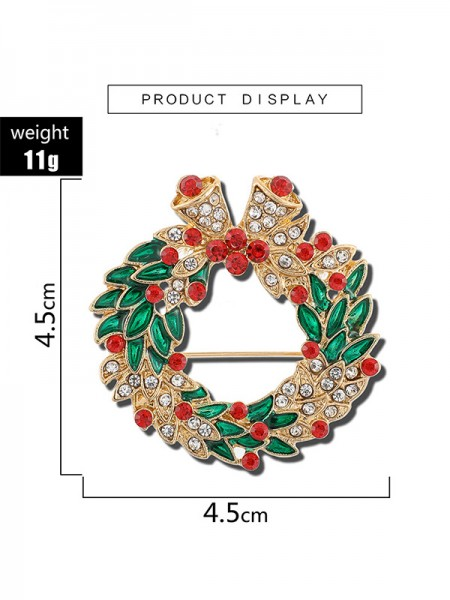 Christmas Gorgeous Alloy With Rhinestone Brooches