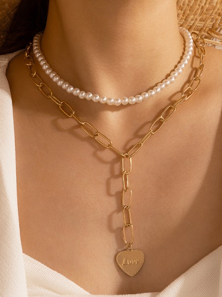 Fascinating Alloy With Imitation Pearl Hot Sale Necklaces