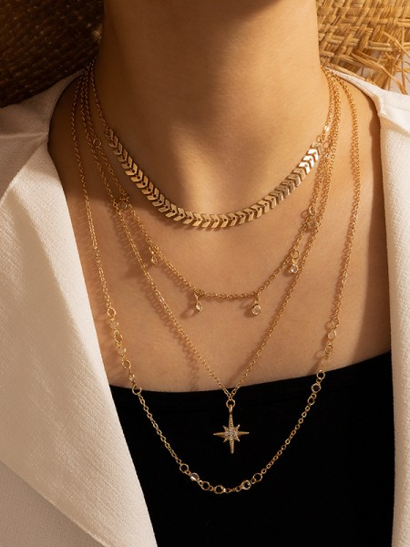 Flawless With Rhinestone Alloy Necklaces