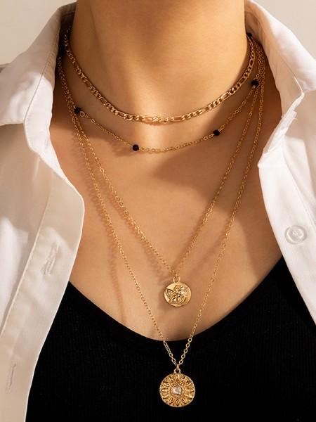 Glamorous With Rhinestone Alloy Necklaces