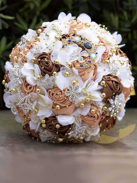 Fashion Round Artificial Flower Bridal Bouquets