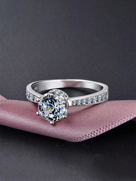 Trending S925 Silver With Zircon Wedding Rings
