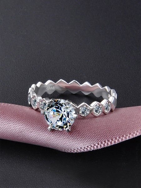 Fashion S925 Silver With Zircon Wedding Rings