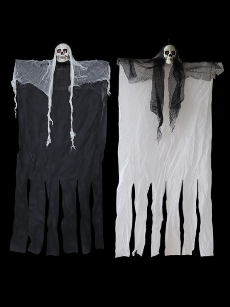 Halloween Horrible Cloth With Skull Hanging Ghost