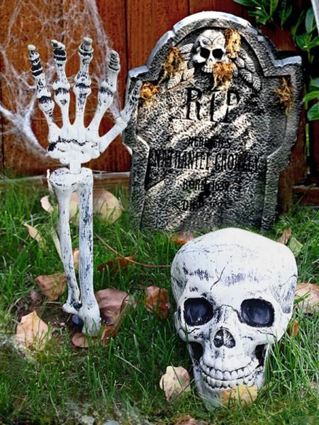Horrifying Plastic Skull Hand Halloween Decoration