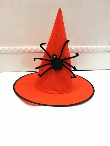 Halloween Delicate Cloth With Spider Wizard Hat