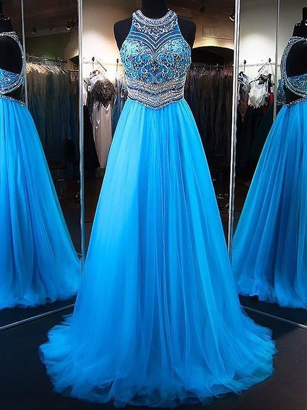 Princesa/Formato A Decote Vermelhoondo Sem Mangas Com cauda/Arrastar Missangas Tule Vestidos