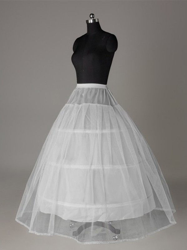 Tule Malhating Ball-Gown 2 Tier Floor Length Slip Style/Anáguas de casamento