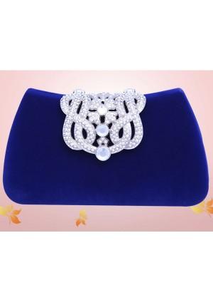 Mini Imitação de Diamante Flock Party/Evening Bags