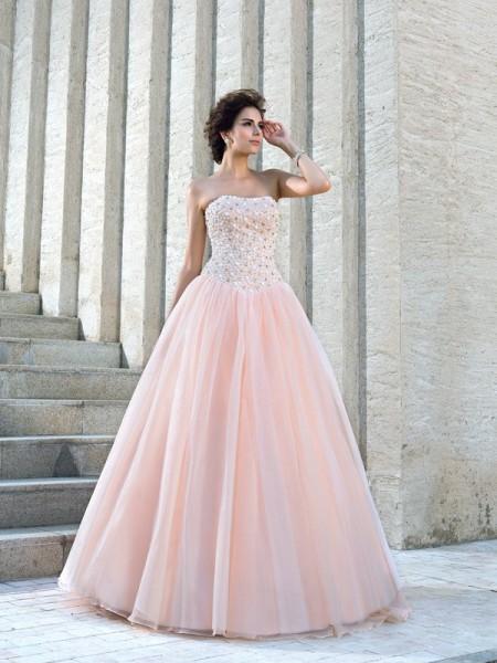 De Baile Sem Alça Missangas Sem Mangas Longa Cetim Vestidos de Noiva