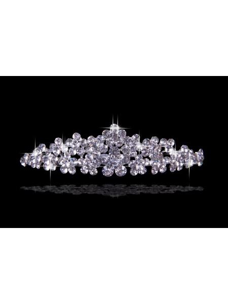 Bonita Czech Imitação de Diamantes Flores Tiaras de casamento