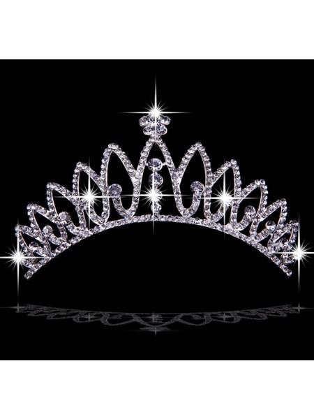 Elegant Czech Imitação de Diamantes Tiaras de casamento