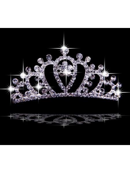 Gorgeous Liga com Czech Imitação de Diamantes Tiaras de casamento