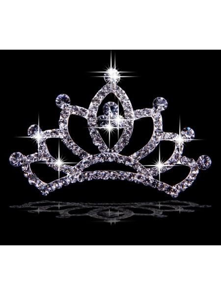 Graceful Liga com Czech Imitação de Diamantes Tiaras de casamento