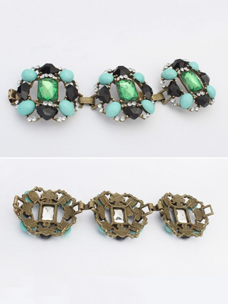 Oeste À moda Emeralds Luxuoso Venda imperdível Bracelets