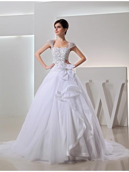 Missangas Longa De Baile Bordado Organza Laço Vestidos de Noiva