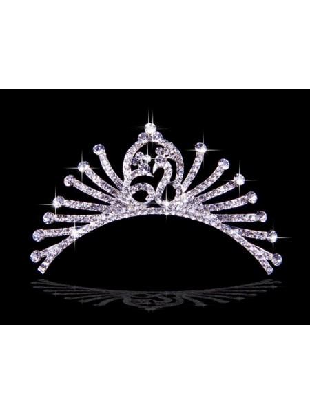 Bonita Liga Czech Imitação de Diamantes Tiaras de casamento
