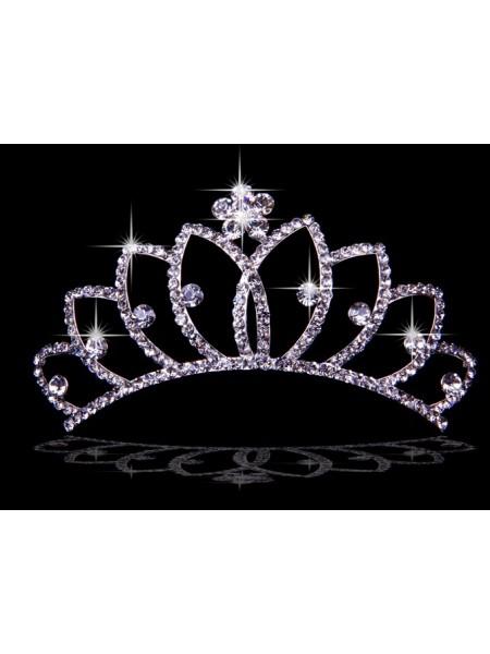Bonita Liga com Czech Imitação de Diamantes Flores Tiaras de casamento