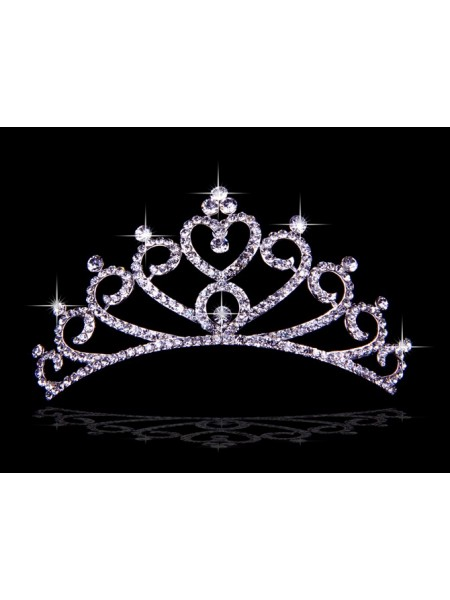 Bonita Czech Imitação de Diamantes Hearts Tiaras de casamento
