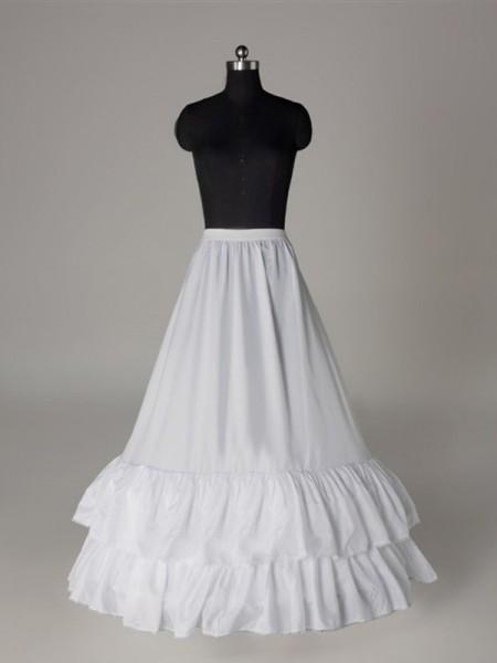Bonita Nylon A-Line 1 Tier Floor Length Slip Style/Anáguas de casamento