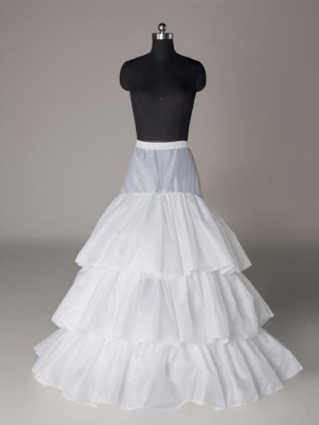 Nylon A-Line 3 Tier Floor Length Slip Style/Anáguas de casamento