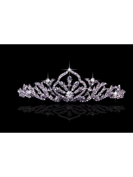 Pretty Liga com Czech Imitação de Diamantes Tiaras de casamento