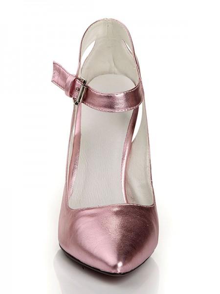 Sheepskin Sapato de Bico FinoSalto alto
