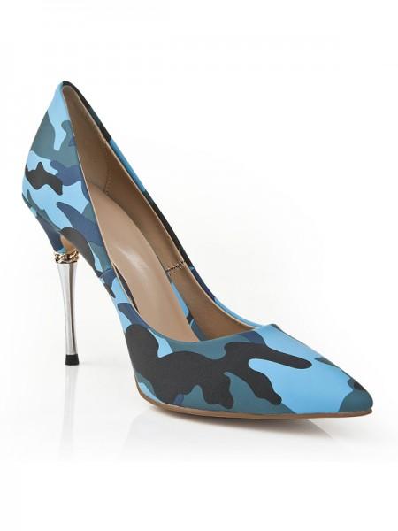 Mulheres Dedo do pé fechado Stiletto Heel com Leopard Print Salto alto