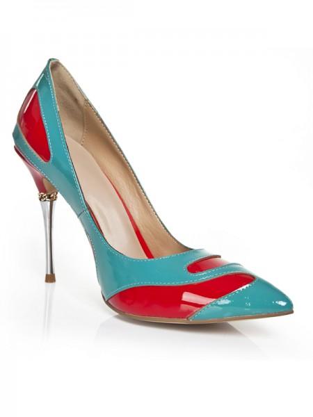Mulheres Stiletto Heel com Chain Dedo do pé fechado Salto alto