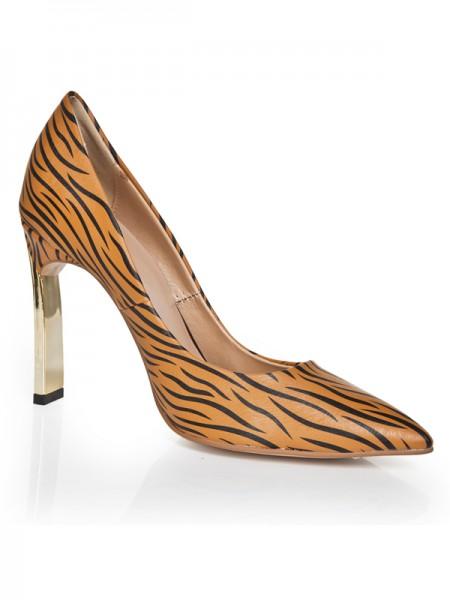 Mulheres Dedo do pé fechado Stiletto Heel Salto alto