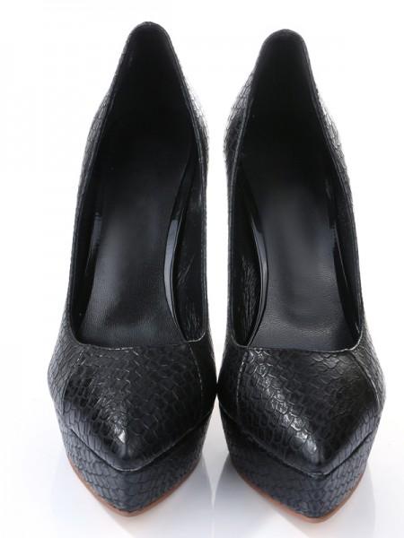 Mulheres Stiletto Heel PU Dedo do pé fechado Salto alto