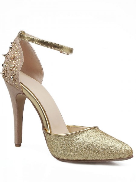 Mulheres Grete Stiletto Heel Close Toe Mary Jane Sandálias Sapatos