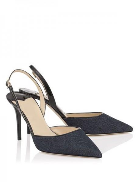 Mulheres Stiletto Heel Dedo do pé fechado com Fivela Sandálias Sapatos