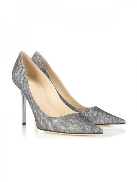 Mulheres Dedo do pé fechado Stiletto Heel Office & Career Salto alto