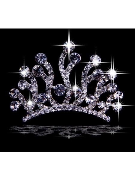 Trendy Liga com Czech Imitação de Diamantes Tiaras de casamento
