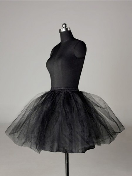 Tule Malhating Ball-Gown 2 Tier Curtos Length Special Occasion Petticoats