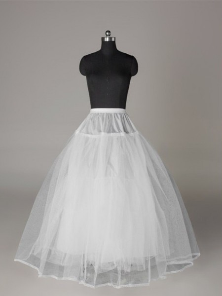 Tule Malhating Ball-Gown 3 Tier Floor Length Slip Style/Anáguas de casamento