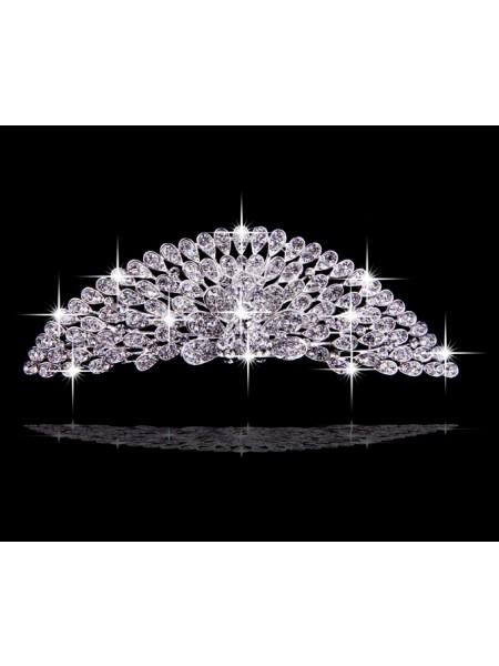 Very Amazing Liga com Czech Imitação de Diamantes Flores Tiaras de casamento