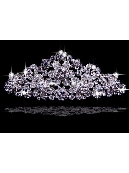 Very Brilliant Liga com Czech Imitação de Diamantes Tiaras de casamento