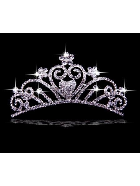 Very Gorgeous Liga com Czech Imitação de Diamantes Flores Tiaras de casamento