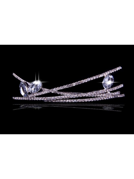 Very Unique Liga com Czech Imitação de Diamantes Tiaras de casamento